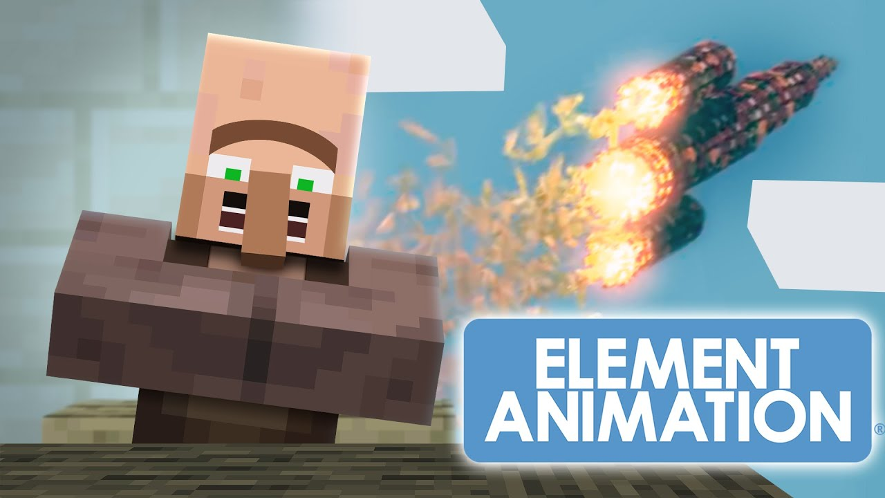 VILLAGER NEWS in 60s - End of the WORLD! (Minecraft Animation) #shorts