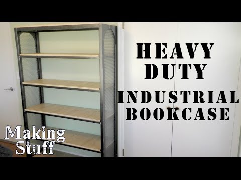Making a Wood and Steel Industrial Bookcase