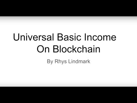 Colorado Bitcoin Society June Talk: Universal Basic Income on the Blockchain