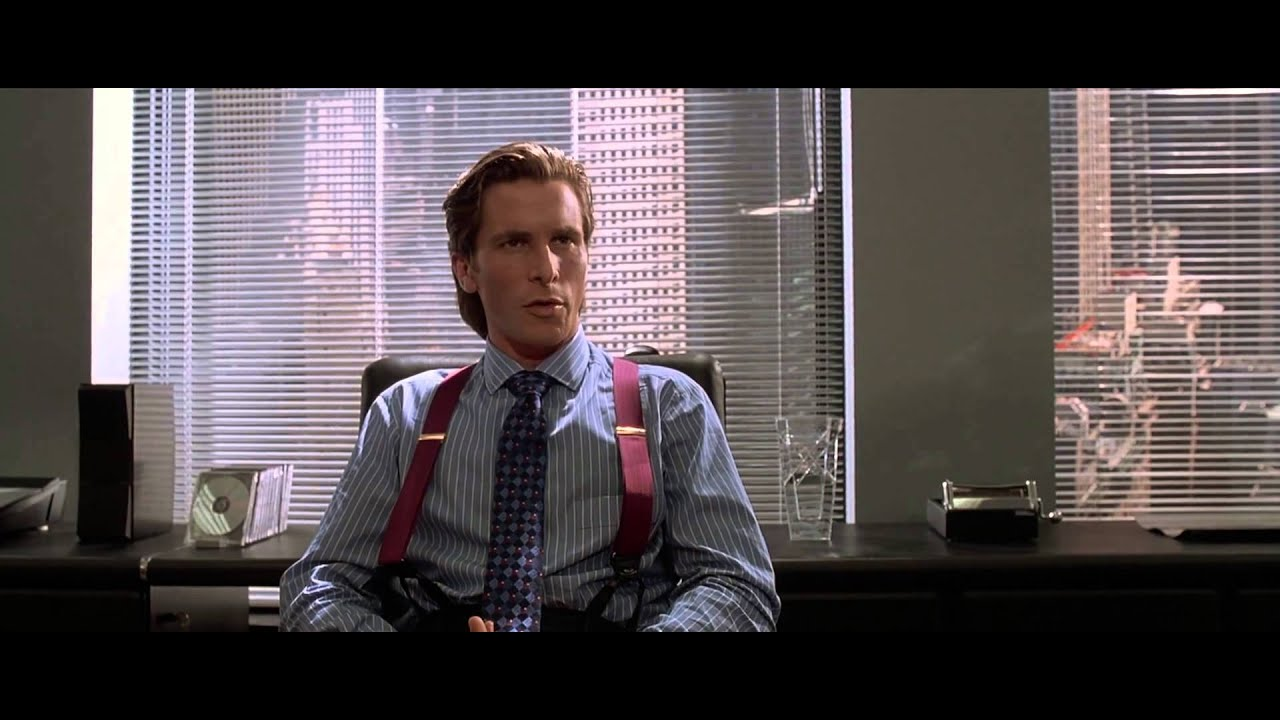 american psycho obsession comes from the American psycho – the post-modern gothic 'american psycho the vision of civilisation that bateman shows highlights the universality of this obsession.