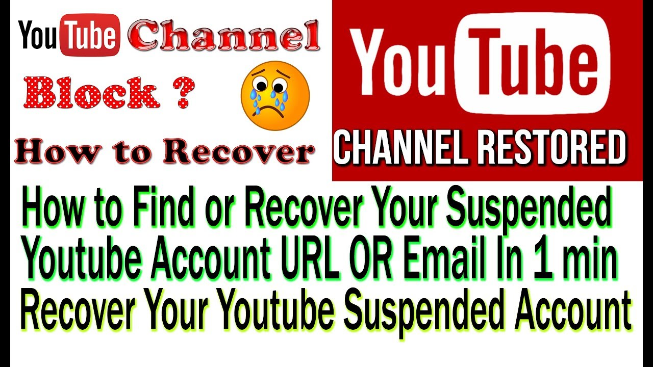 Recovering YouTube Channel Account