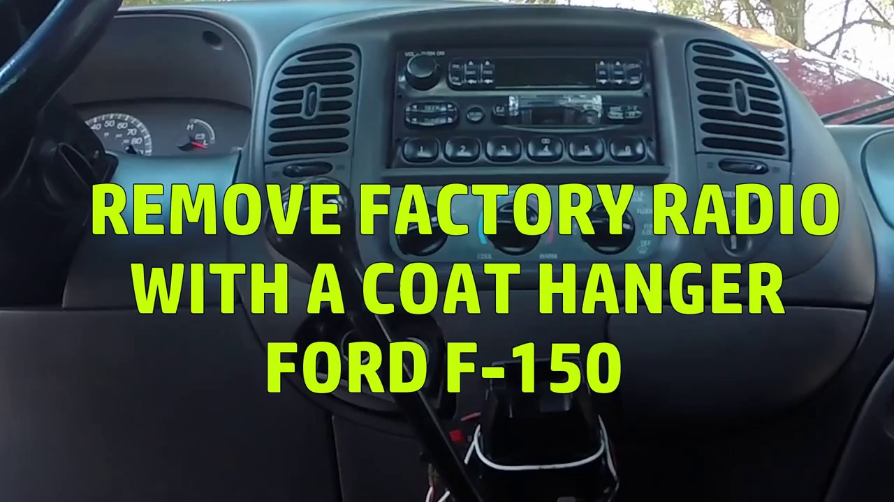 2001 ford f150 stereo removal