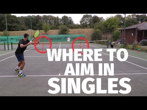 Tennis Tactics - Where To Aim In Singles