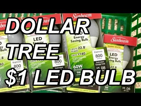 Dollar Tree $1 Sunbeam LED Bulb: 800 Lumen (9w) Teardown And Review