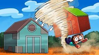 Minecraft - F5 TORNADO DESTROYS MY HOUSE! (Tornado vs Base)