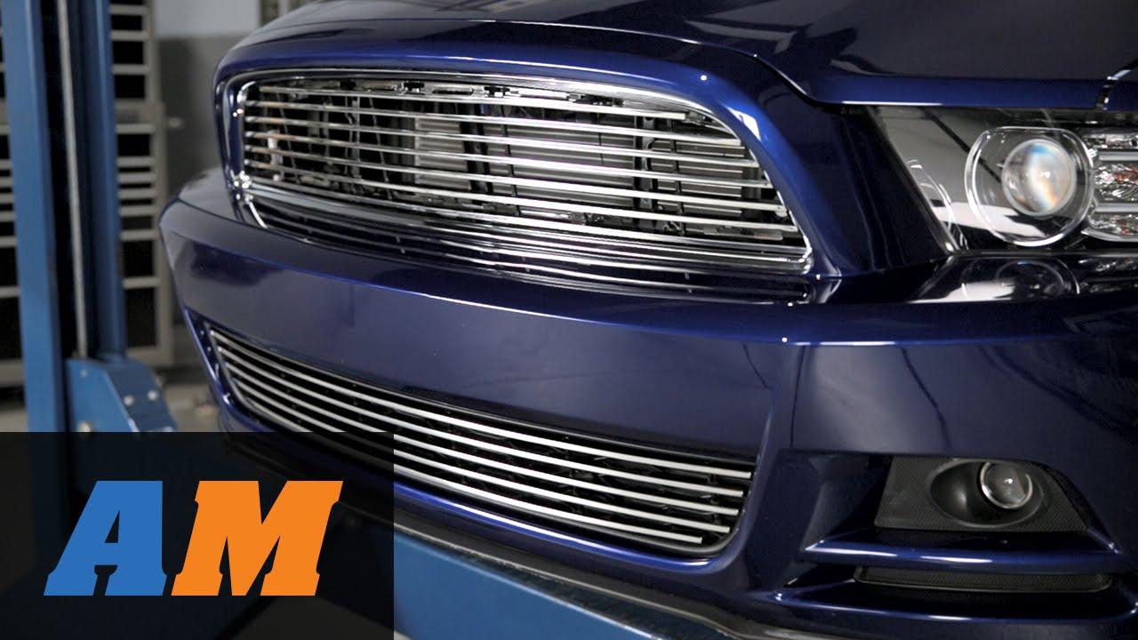 Mustang Modern Billet Retro Grilles Black And Polished