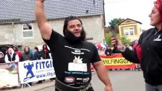 The world's strongest vegan is back with yet another world record
