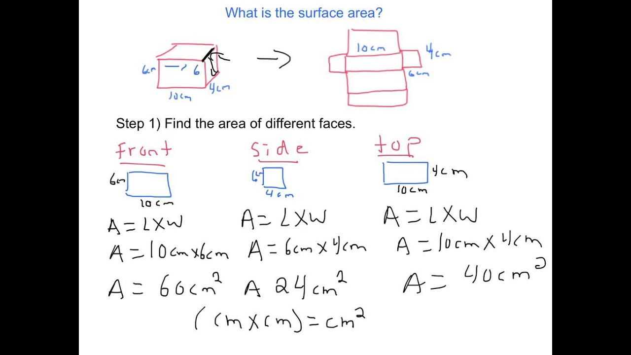 how to find the surface area of a prisim