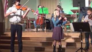 Boys vs Girls Battle out Devils Dream at a studio fiddle concert