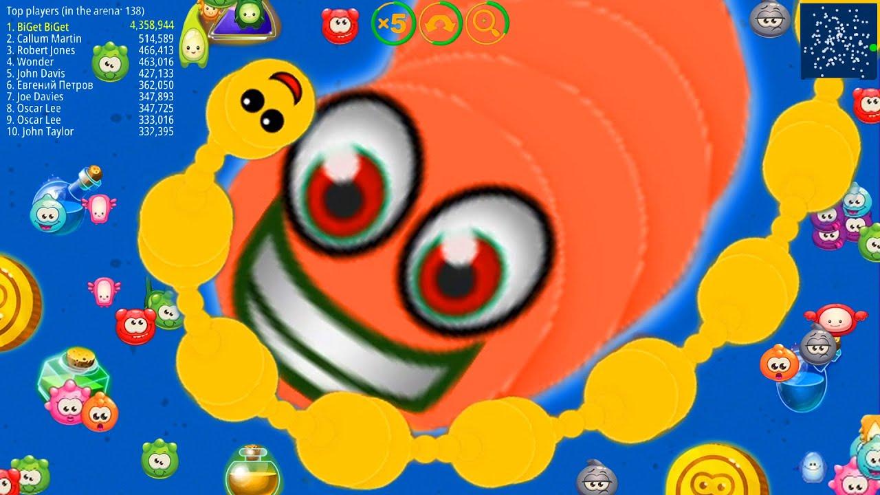 WormsZone.io 001 Best Pro Worm Vs Giant Worm Epic WormsZoneio Trolling Best Moments #97