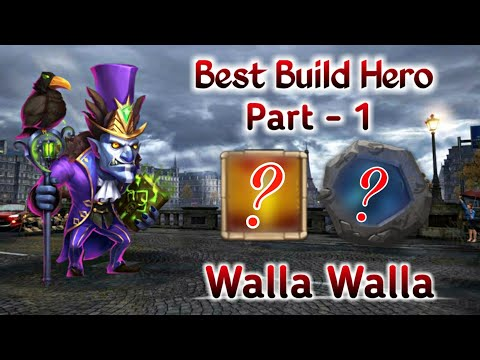 Best Build Hero | Part - 1 | Walla Walla | Offence And Defence Mode | Castle Clash