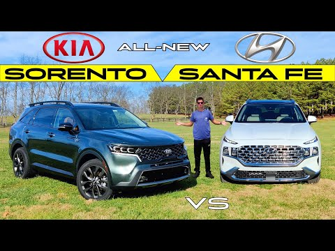 VALUE KINGS! -- 2021 Kia Sorento vs. 2021 Hyundai Santa Fe: Comparison