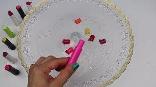 Tutkalsız Borakssız 1 Malzeme ile Şeffaf Slime Yaptım Lip balm MİX SLIMESMOOTHIE !! Bidünya Oyuncak