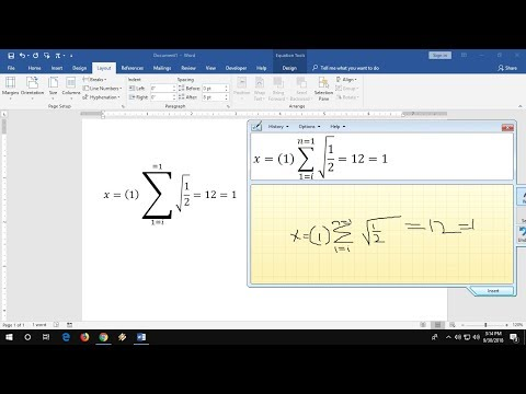 Easiest Way to Type Math Equations in MS Word