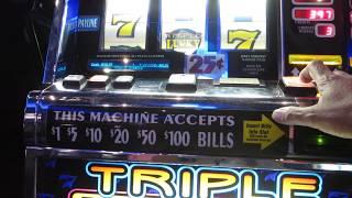 Triple lucky 7 slot play line hit + line hit !!!