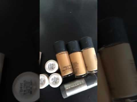 Makeup artist main foundation low Nd high range