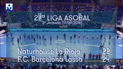 LIGA ASOBAL J03 Naturhouse La Rioja - FC Barcelona Lassa 22 - 24