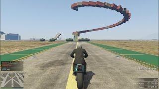 GTA 5 ONLINE - ESPIRAL A MOTO!! - CARRERA GTA 5 ONLINE