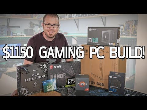 Building a $1150 Gaming PC in the Cooler Master Q500L!