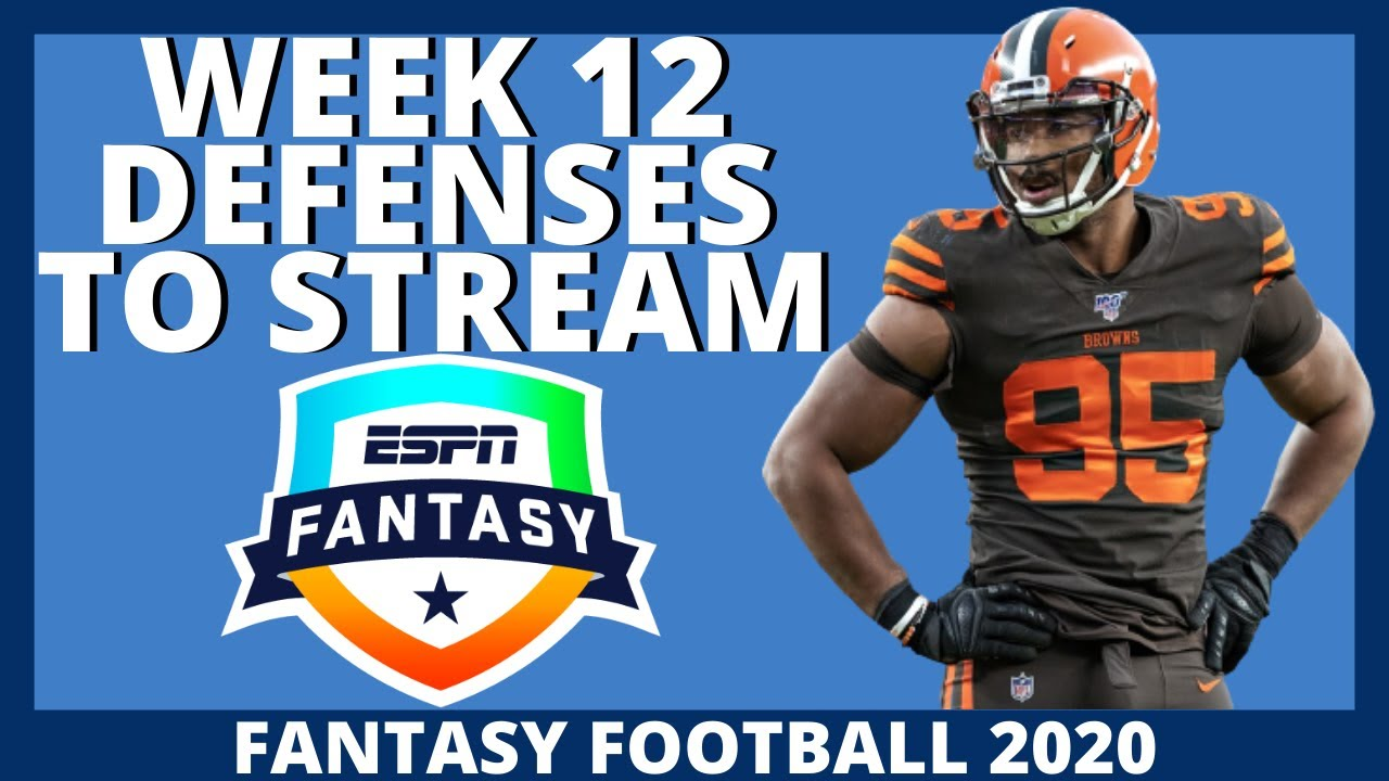 2020 Fantasy Football: Week 12 Defense Streams (D/ST Pickups)