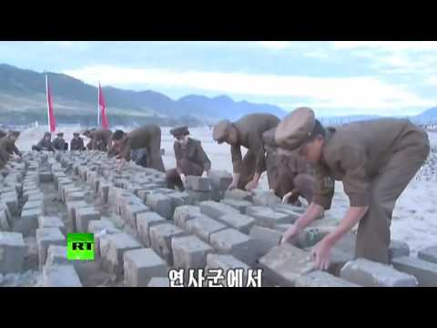 Recovery op after 'worst floods in decades' in North Korea (state TV coverage w/English subtitles)