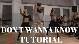 Dont Wanna Know By Maroon 5 Dance Tutorial| @DanaAlexaNY Choreography
