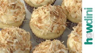 How To Make Toasted Coconut Snowball Cupcakes