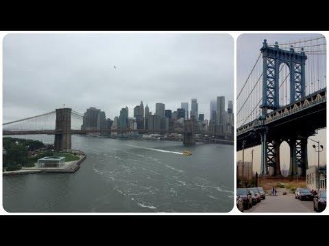 Walking Across Manhattan Bridge,Stunning Views Of Downtown NYC