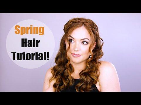Spring Hair Tutorial   |   Milk Maid Braids!