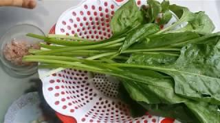 Cách nấu canh cải bó xôi thịt băm ngọt thơm!