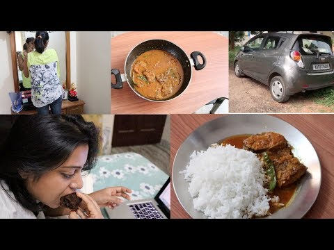 My Wednesday Vlog || Prepare Delicious Bengali Fish Curry In Lunch