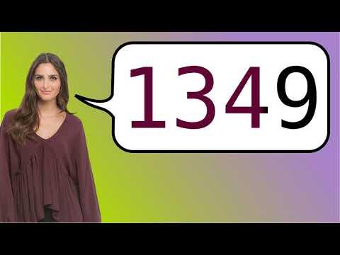 Como dizer '1349' em ingles?