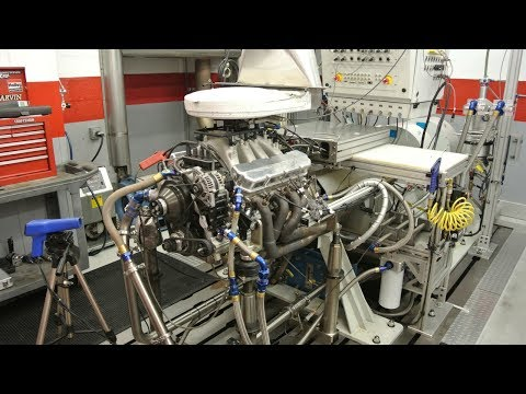 NASCAR Toyota Racing Engine on Dyno