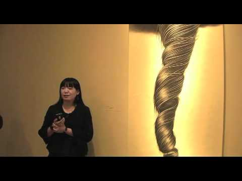 Artist Zhang Chun Hong at National Portrait Gallery
