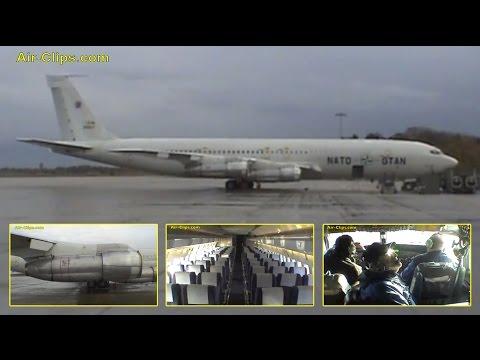 NATO Boeing 707-320C TCA (Trainer Cargo Aircraft) Sabena Technics Engine Runup [AirClips]