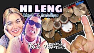 MandaRhyme-Hi Leng | Real Drum App Playthrough | Rock Version