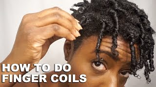 How to do a Finger Coil Out on Tapered Natural Hair using Eco Styler Gel