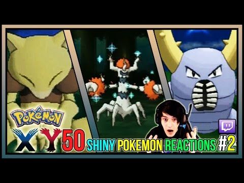 50 LIVE SHINY POKEMON REACTIONS #2! Pokemon X And Y 2015 Shiny Pokemon Montage