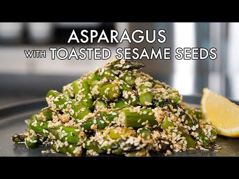 asparagus with toasted sesame aioli