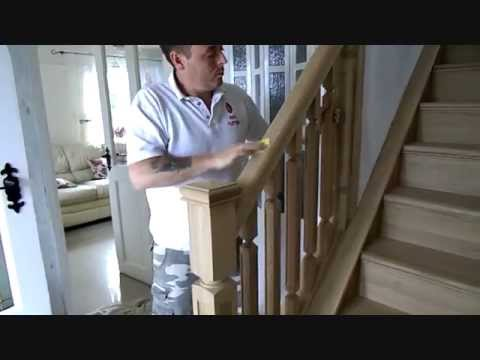 How to paint furniture spraypaint solid oak staircase - How to paint a stairway wall ...