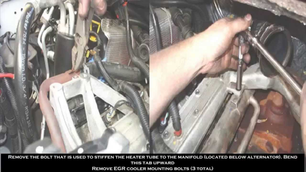 03 07 Ford 60 Egr Delete Kit Installation Youtube 6 0 Wiring Harness