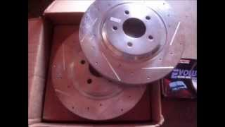 brakemotive drilled and slotted rotors evolution ceramic brake pads combo initial impressions review