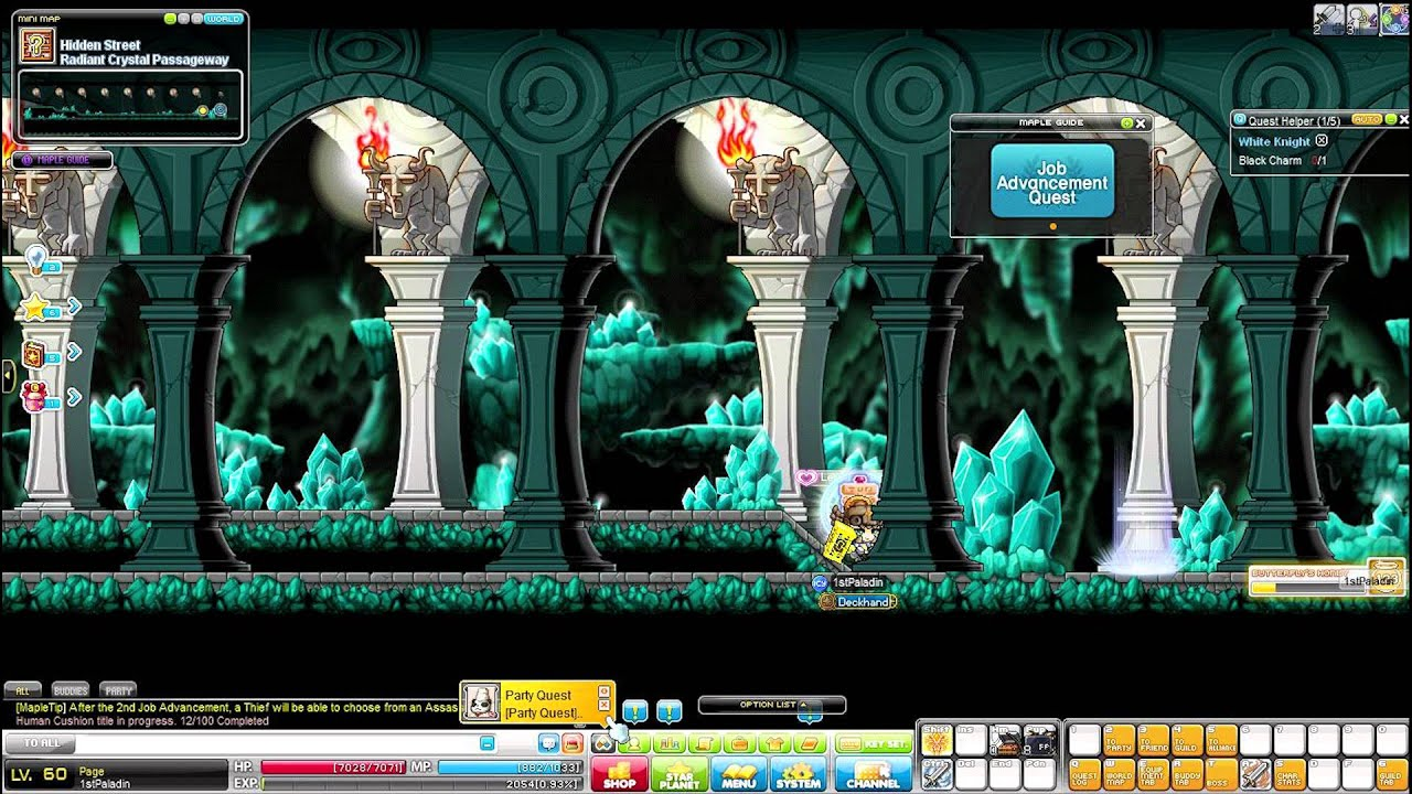 Maplestory - Paladin 1st, 2nd job advanced, skills