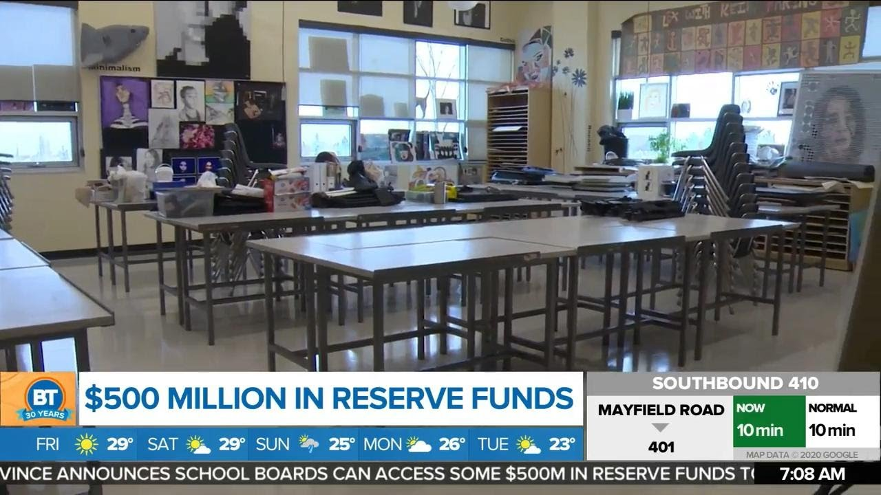 Top stories:  Ontario unlocks $500M in reserve funds for back to school, DVP closed this weekend