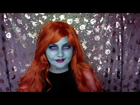 31 days of halloween day 2 sally from the nightmare before christmas makeup tutorial - Sally Nightmare Before Christmas Makeup