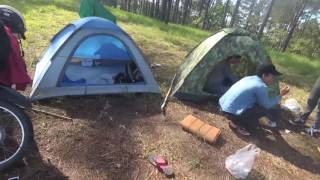 Over Night Adventure Camping on the top of mountain   Foursome Buscraft   Cooking and Eating
