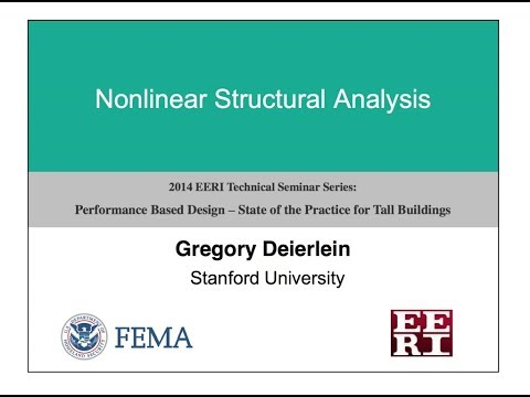 Nonlinear Structural Analysis - Performance Based Design of