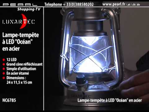 lampe temp te led 39 39 oc an 39 39 en acier youtube. Black Bedroom Furniture Sets. Home Design Ideas