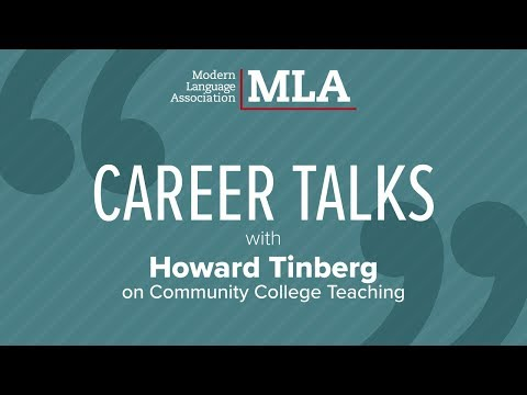 Career Talks: Howard Tinberg on Community College Teaching