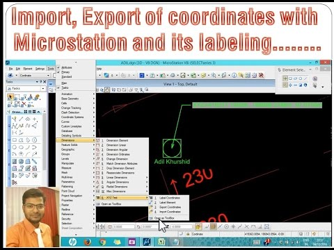 Microstation Coordinates Import & Export